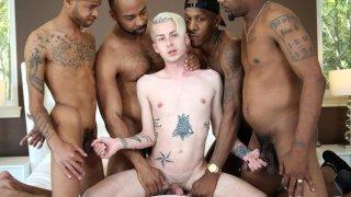 Gay Black Gangbang